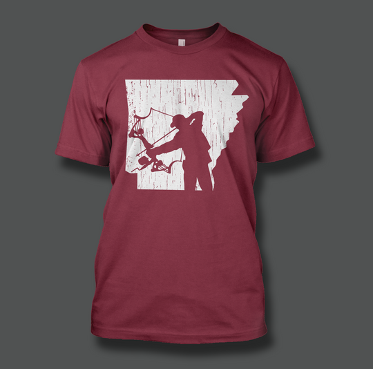 State of Arkansas Bowfisherman - Shirt Guys Bowfishing and Hunting T-Shirts