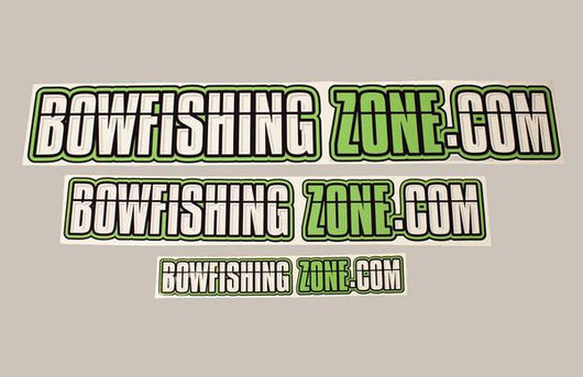 Bowfishing Zone LIME GREEN Stickers- 7 1/4