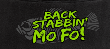 Back Stabbin' MoFo Beanies- Black - Shirt Guys Bowfishing and Hunting T-Shirts