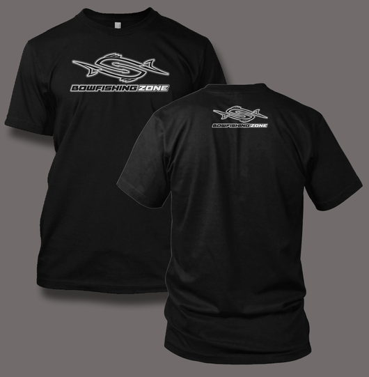 Bowfishing Zone Fish Revamp - Black Garments - Shirt Guys Bowfishing and Hunting T-Shirts