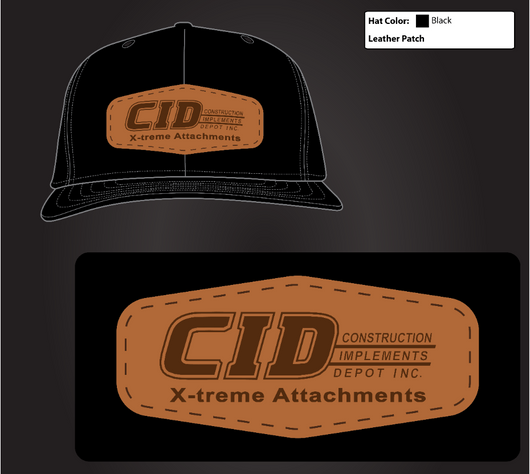 CID X-treme Attachments Leather Richardson Snapback- Black - Shirt Guys Bowfishing and Hunting T-Shirts