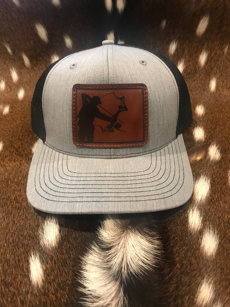 Colorado Bowfishing Leather Patch Hat - Shirt Guys Bowfishing and Hunting T-Shirts