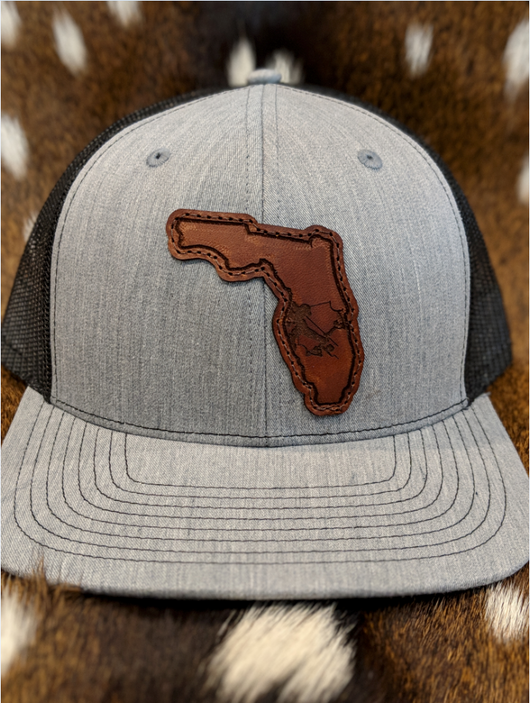State of Florida Bowfisherman PATCH Hat - Shirt Guys Bowfishing and Hunting T-Shirts