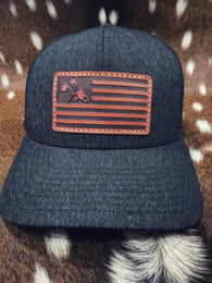 Coming in Hot! 3 Ducks American Flag Snap-back Hat - Shirt Guys Bowfishing and Hunting T-Shirts
