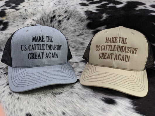 Make the U.S. Cattle Industry Great Again! Snap Back Hat - Shirt Guys Bowfishing and Hunting T-Shirts