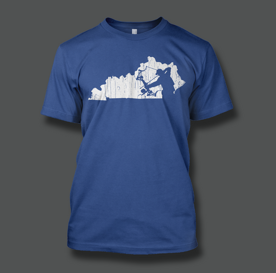 State of Kentucky Bowfisherman - Shirt Guys Bowfishing and Hunting T-Shirts