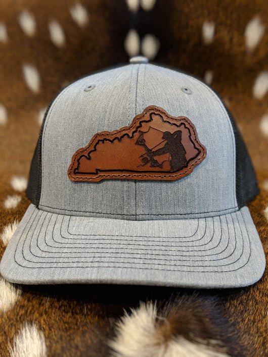 State of Kentucky Bowfisherman PATCH Hat - Shirt Guys Bowfishing and Hunting T-Shirts