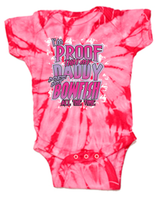 I'm Proof that My Daddy Doesn't Always Bowfish- ONSIES Pink & Royal - Shirt Guys Bowfishing and Hunting T-Shirts