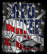 Red, White, & Buff T-Shirt Design - Shirt Guys Bowfishing and Hunting T-Shirts