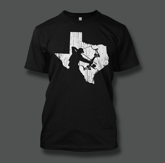 State of Texas Bowfisherman - Shirt Guys Bowfishing and Hunting T-Shirts