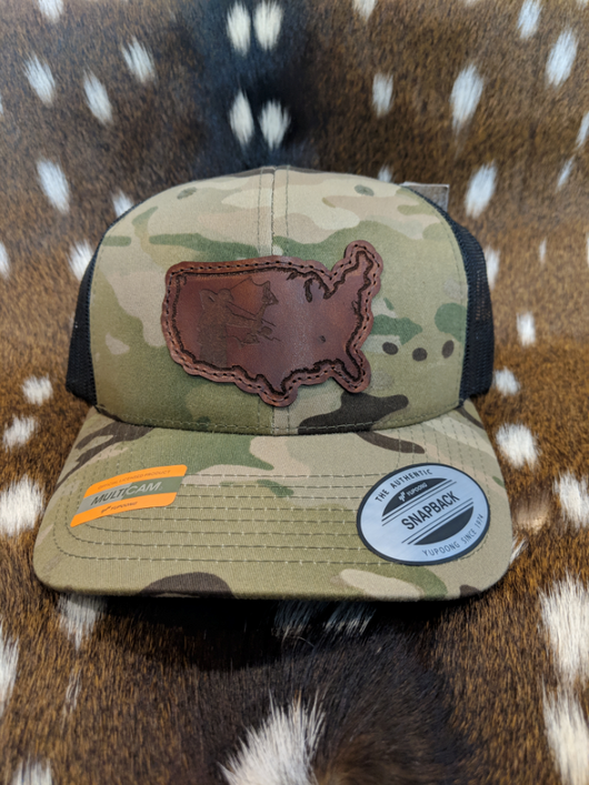 United States of America Bowfisherman PATCH Hat - ShirtGuys.com