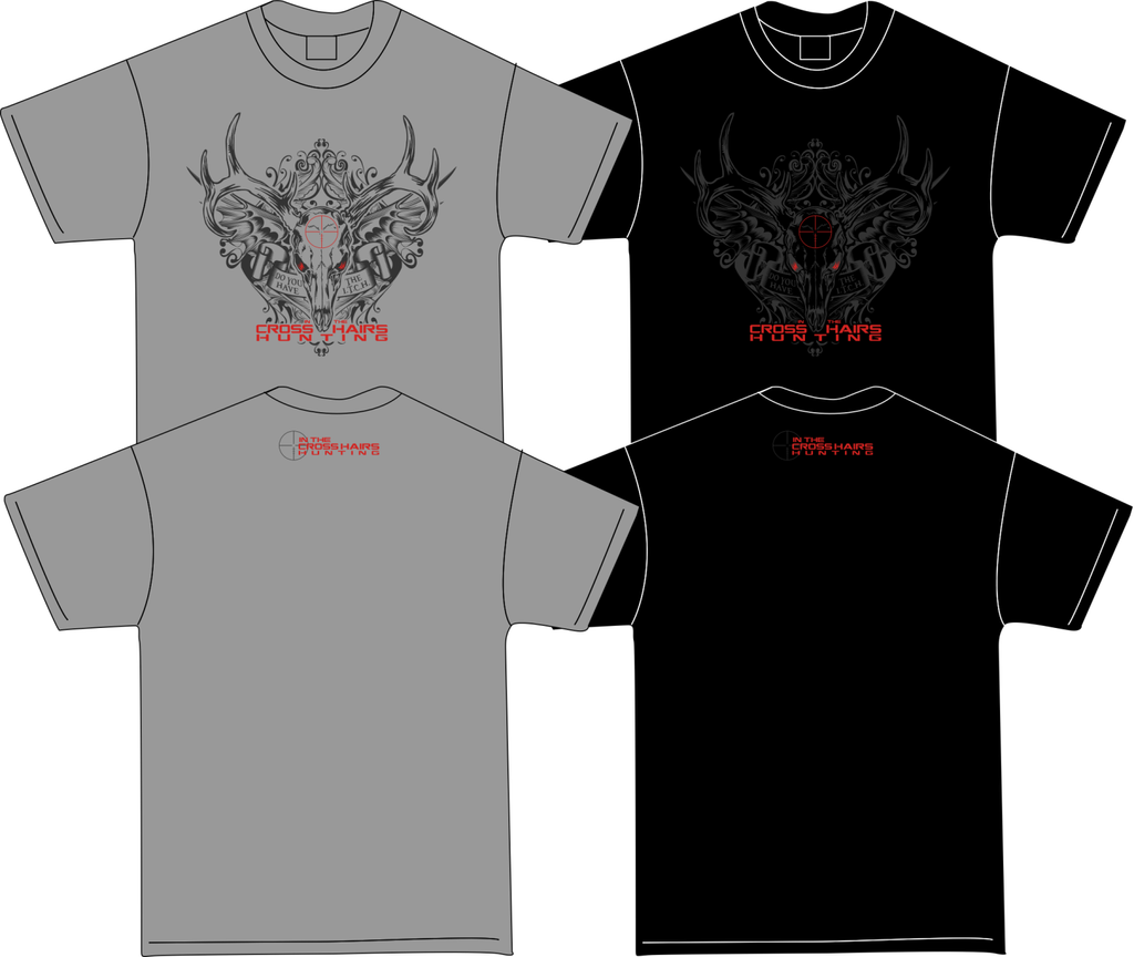 In The Cross Hairs Hunting T-Shirt - $3 each!!! - Shirt Guys Bowfishing and Hunting T-Shirts