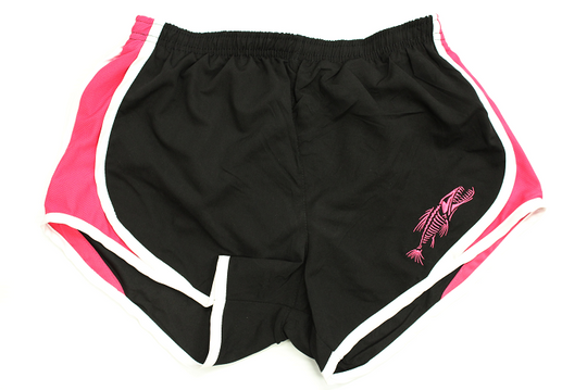 Ladies Bowfishing Short -Black/Hot Pink Velocity Short - Shirt Guys Bowfishing and Hunting T-Shirts