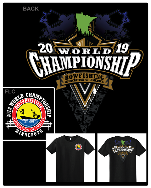 2019 BAA Worlds T-Shirt - Shirt Guys Bowfishing and Hunting T-Shirts