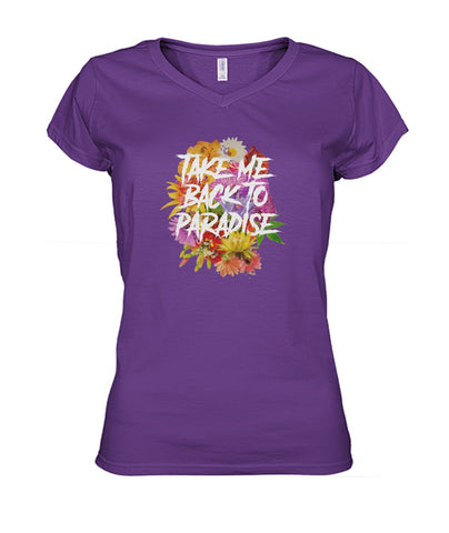 Image of Take Me Back To Paradise Women's V-Neck Tee