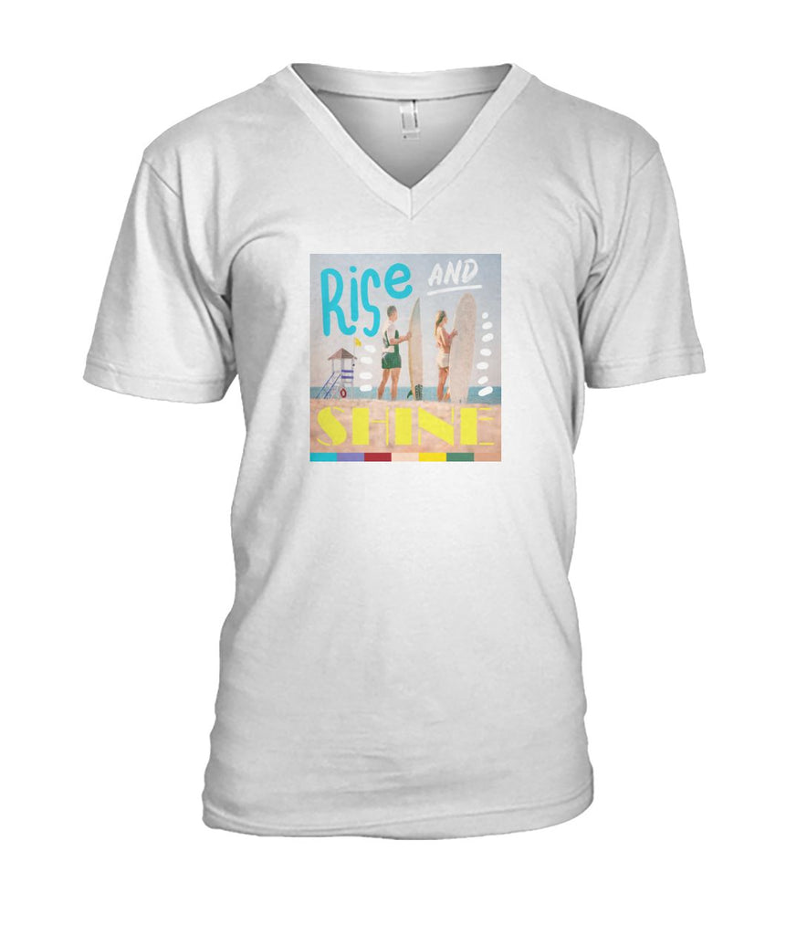 Rise And Shine Men's V-Neck Tee