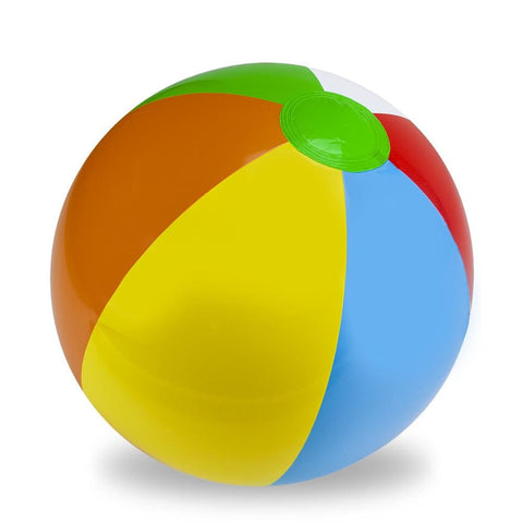 24 Six-Color Beach Ball - Beach Gear