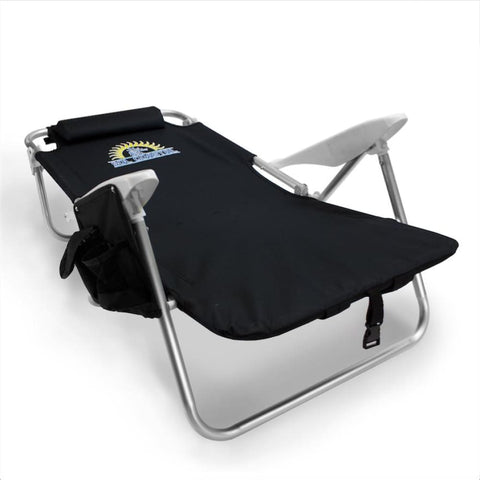 4-Position Folding Beach Chair Black - Beach Gear