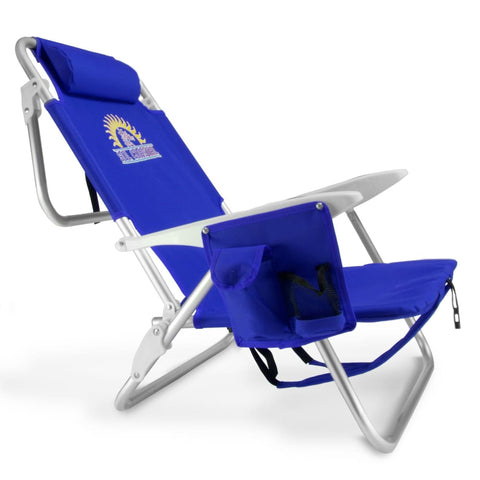 Image of 4-Position Folding Beach Chair Blue - Beach Gear