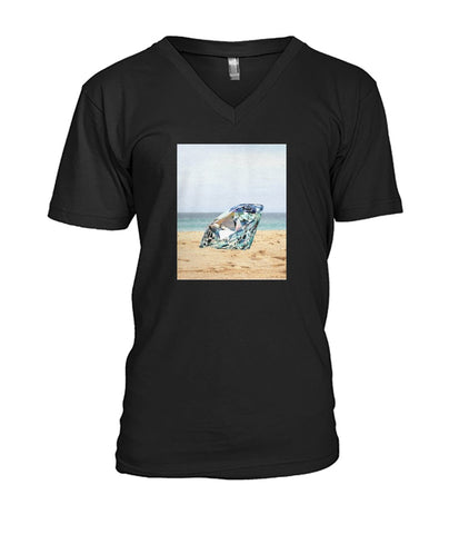 Image of Diamond On The Beach Men's V-Neck Tee