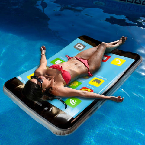 5.5-foot iPool Smartphone Pool Float - Beach Gear