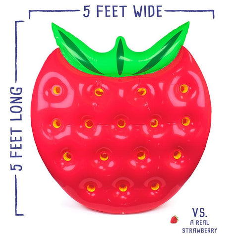 5 Strawberry Pool Float - Beach Gear