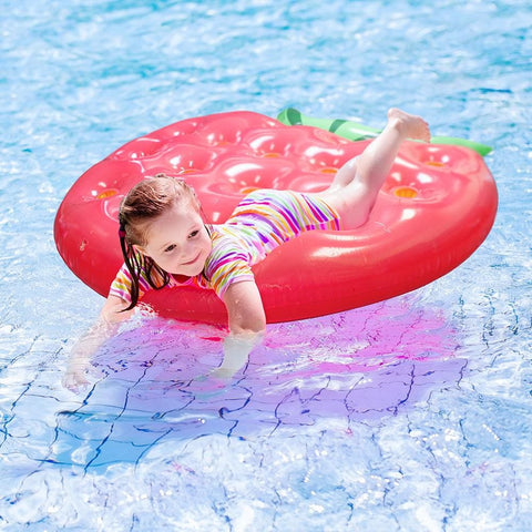 Image of 5 Strawberry Pool Float - Beach Gear