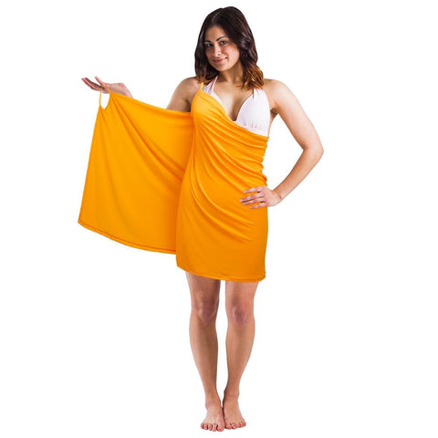 Backless Beach Dress Wrap Orange - Beach Gear