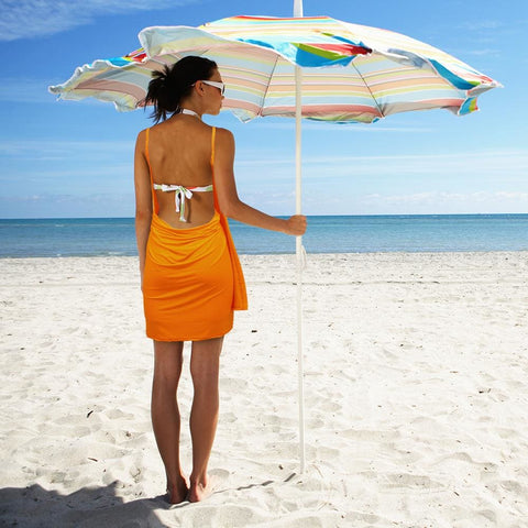 Image of Backless Beach Dress Wrap Red - Beach Gear