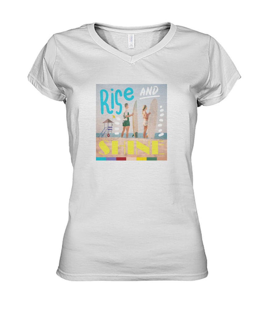 Rise And Shine Women's V-Neck Tee
