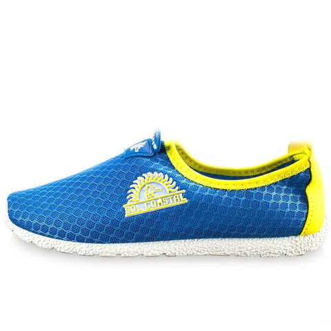 Image of Blue Womens Shore Runner Water Shoes Size 6 - Beach Gear