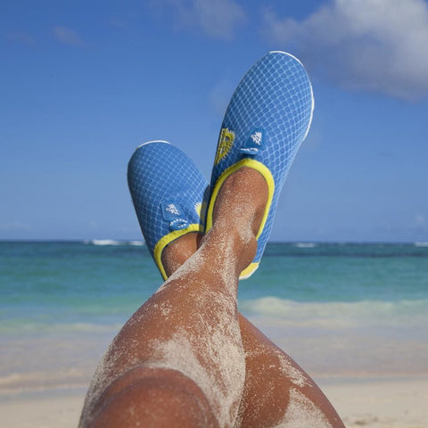 Image of Blue Womens Shore Runner Water Shoes Size 9 - Beach Gear