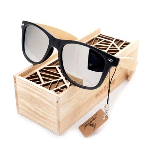 Bobo Bird Bamboo Polarized Sunglasses - Smoke