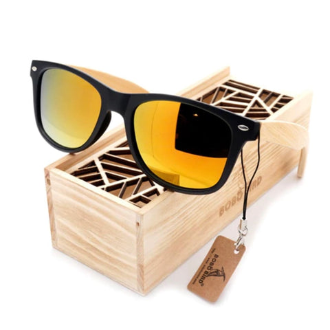 Image of Bobo Bird Bamboo Polarized Sunglasses - Sunrise