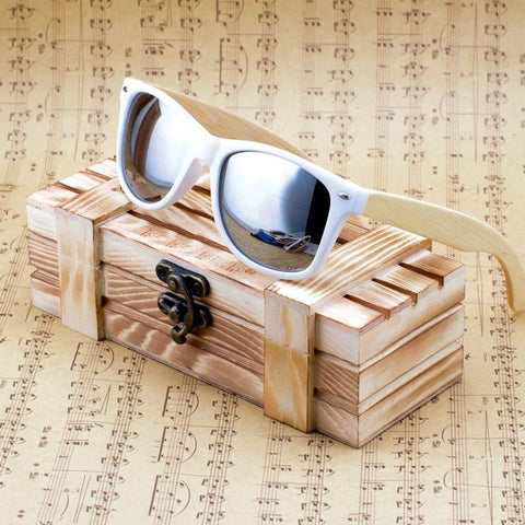 Image of Bobo Bird Luxury Coated Bamboo Polarized Sunglasses - Black