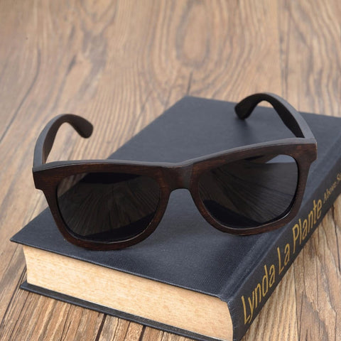 Image of Bobo Bird Premium Dark Natural Wooden Sunglasses