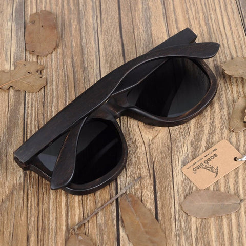 Bobo Bird Premium Dark Natural Wooden Sunglasses
