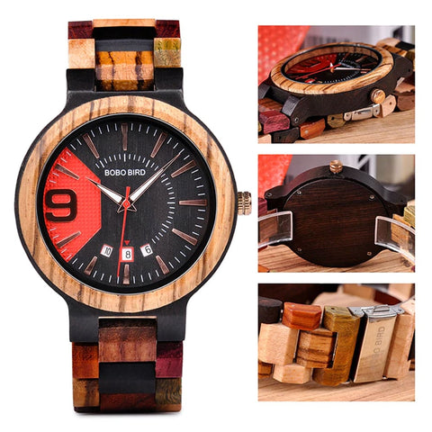Image of Bobo Bird Vintage Ebony Face Watch