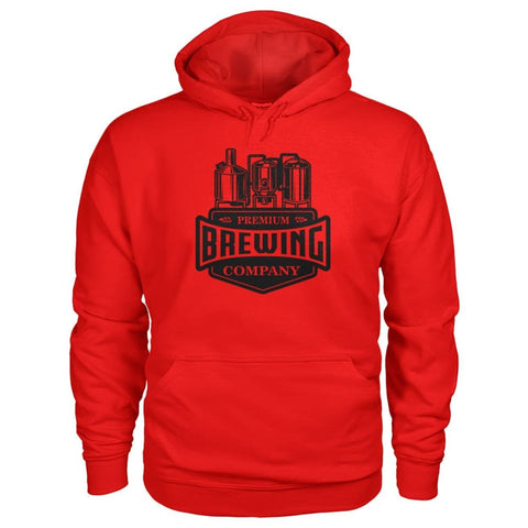 Image of Brewing Company Hoodie - Red / S - Hoodies