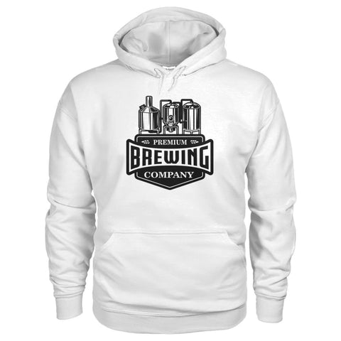 Image of Brewing Company Hoodie - White / S - Hoodies
