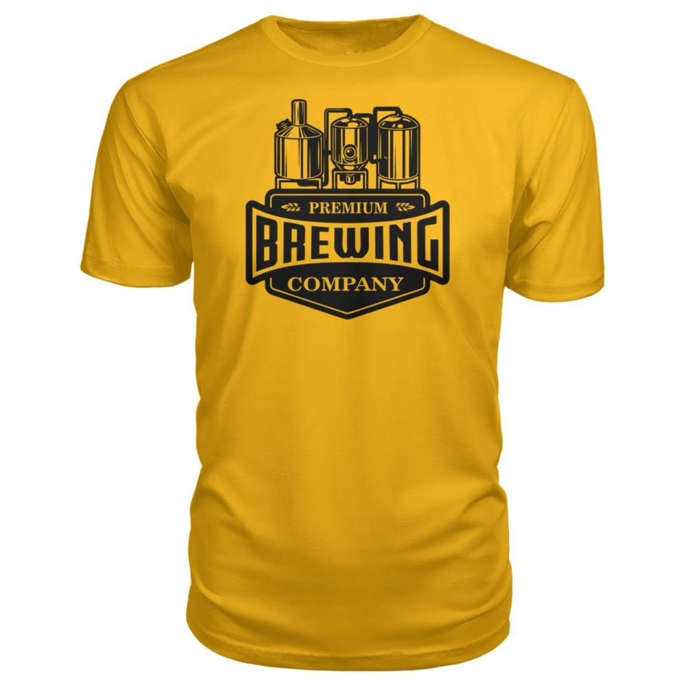 Brewing Company Premium Tee - Gold / S - Short Sleeves