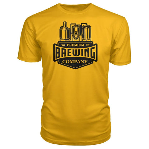 Image of Brewing Company Premium Tee - Gold / S - Short Sleeves