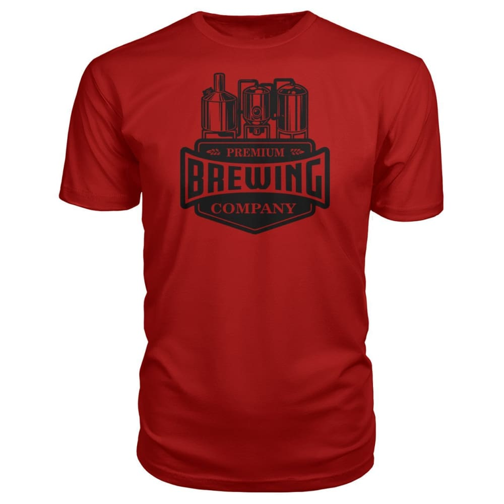 Brewing Company Premium Tee - Red / S - Short Sleeves