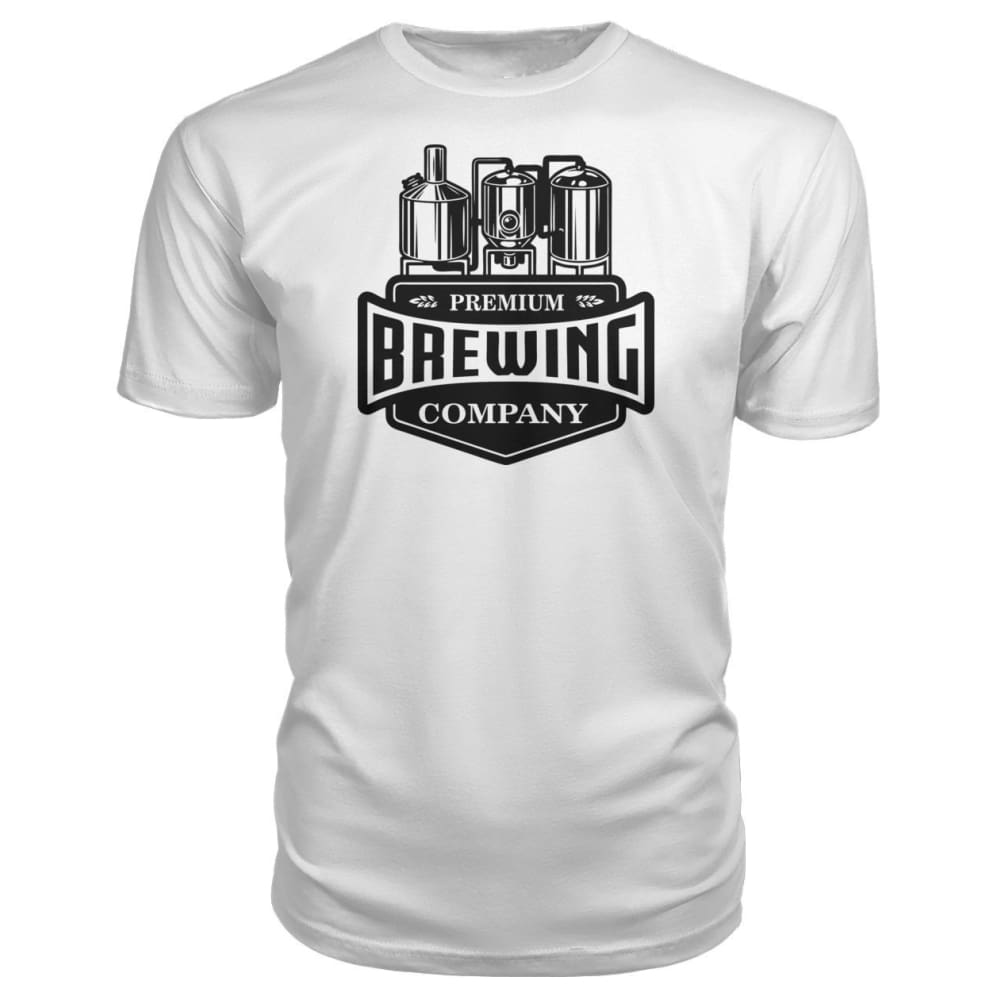 Brewing Company Premium Tee - White / S - Short Sleeves