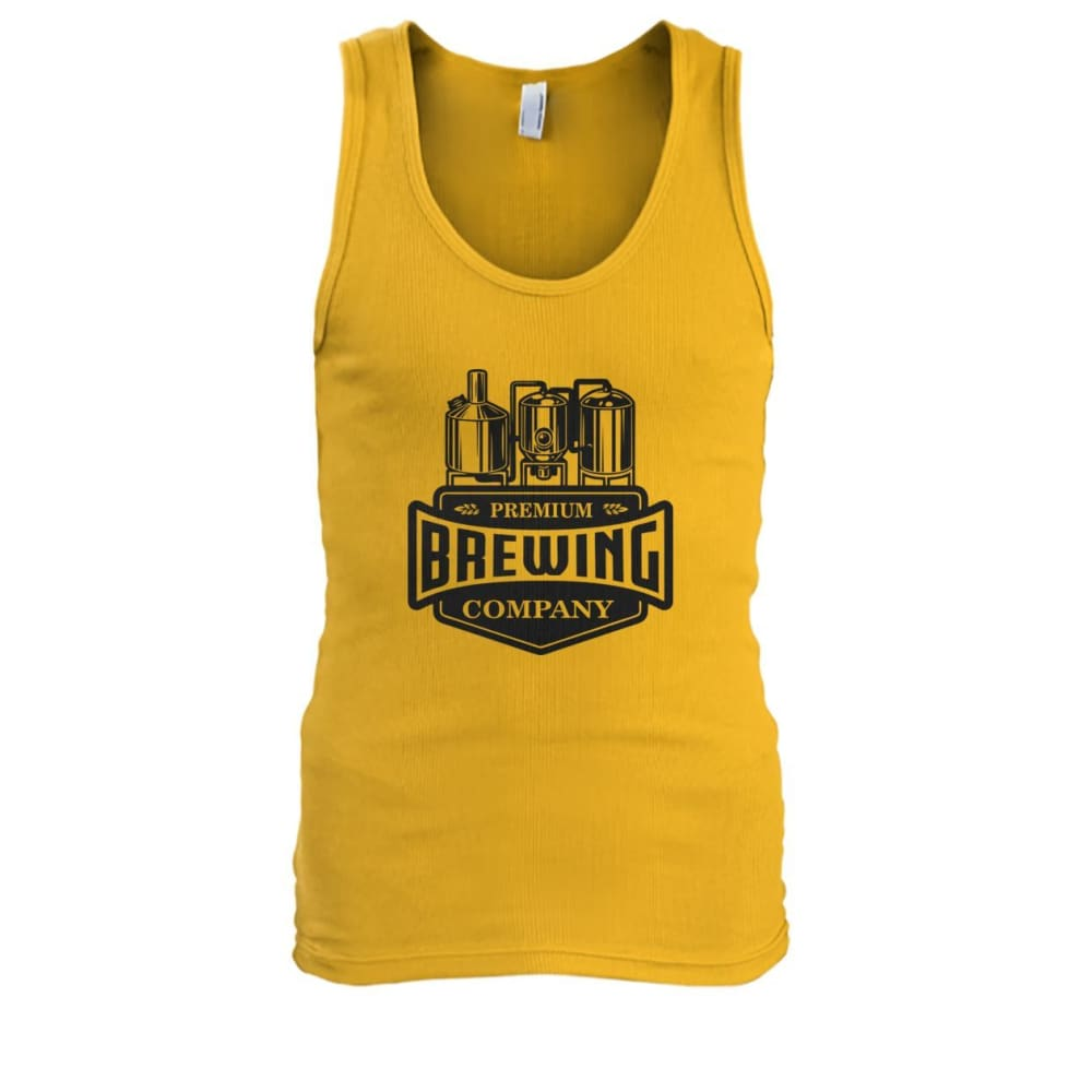 Brewing Company Tank - Gold / S - Tank Tops