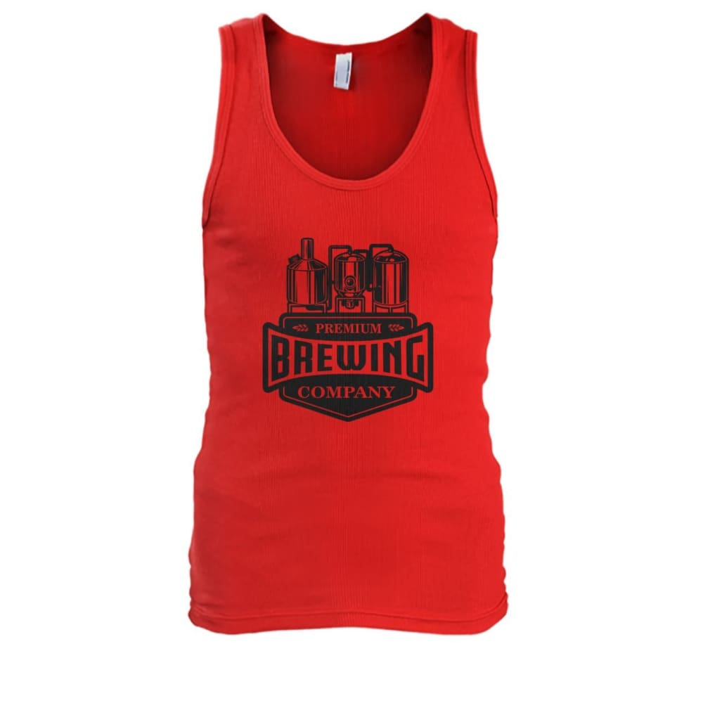 Brewing Company Tank - Red / S - Tank Tops