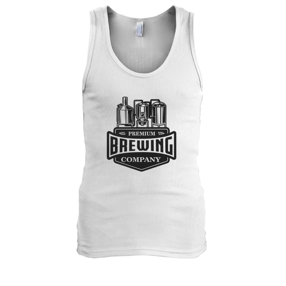 Brewing Company Tank - White / S - Tank Tops