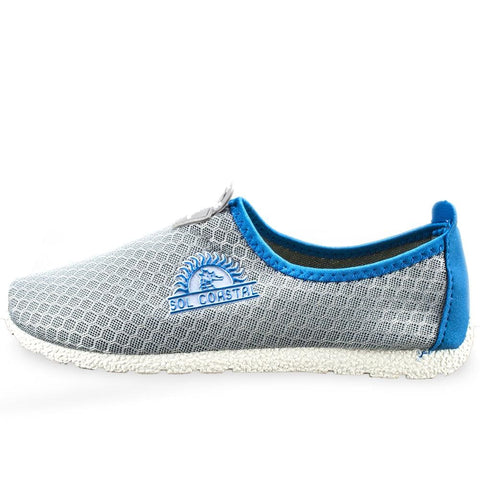 Image of Grey Womens Shore Runner Water Shoes Size 6 - Beach Gear