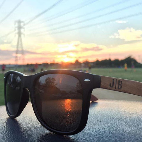 Huntington Wood Sunglasses by Jonny B - Plastic Frames - Sunglasses