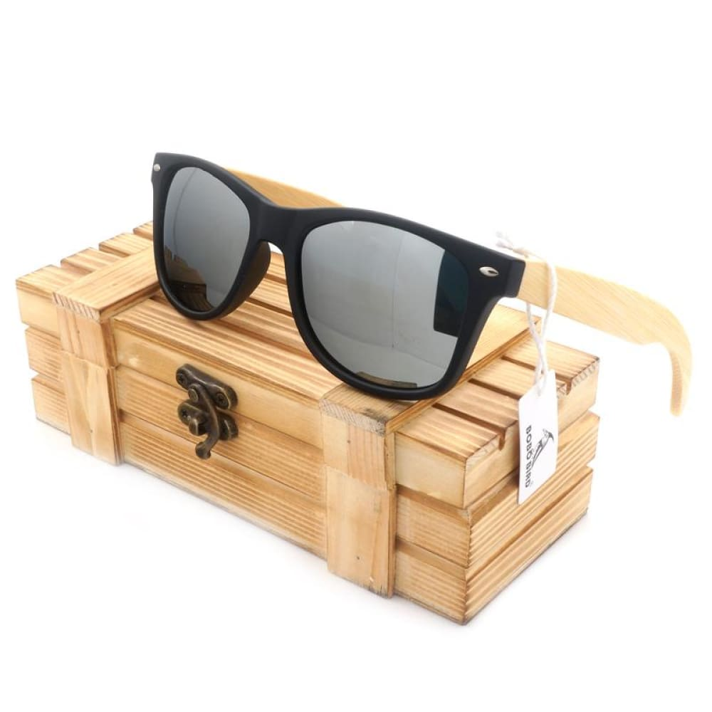 Huntington Wood Sunglasses by Jonny B - Plastic Frames - silver - Sunglasses